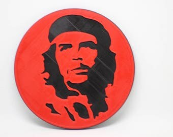 Che Guevara Coaster, an iconic revolutionary image (3D Printed 2 colour)