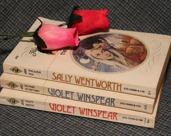 Harlequin Romance Novels ~ Softcover Editions ~Sally Wentworth ~ Violet Winspear ~ Vintage Collectible from the 1980's