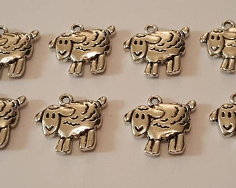 8 Sheep Charms/Jewellery Making/Arts And Crafts
