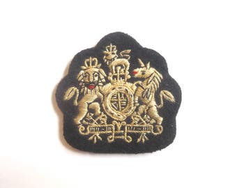 Warrant Officer Badge/Patch - Black/Beige - British Army - E543