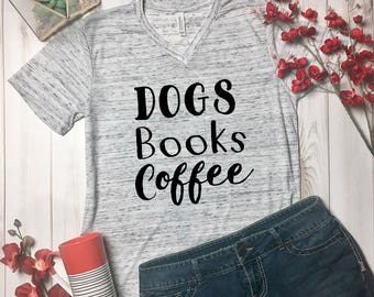 Canines and Caffeine Shirt -Book Lover Gift - Caffeine And Canines Top - Dog Mom Shirt - Canines And Caffeine Top - Stay At Home Dog Mom