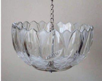 Bird Feeder: Vintage Glass Lampshade
