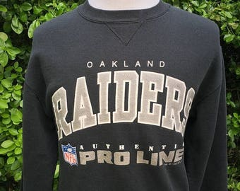 35% OFF SALE Vintage 90s Oakland Raiders 1990s NFL Pro Line Crewneck Sweatshirt - vintage nfl - football sweatshirt - super bowl (Medium)