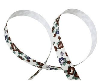 Masking Tape, Brown flower fabric tape 1