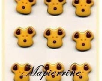 9 buttons for scrapbooking bears