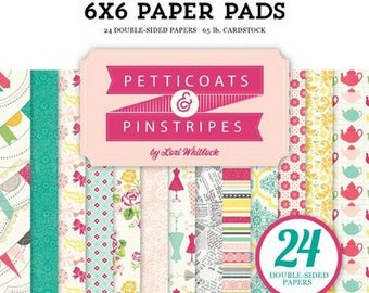 24 papers 15.2 x 15.2 cm ECHO PARK PETTICOASTS and PINSTRIPES