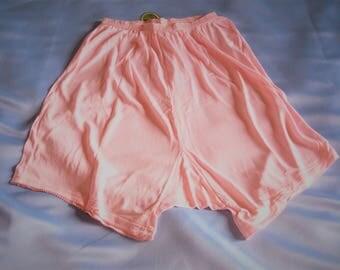 Rose soyeux brillant français slips sous-vêtements sexy culotte unisexe 1950 neuf avec étiquettes livraison gratuite dames ou hommes