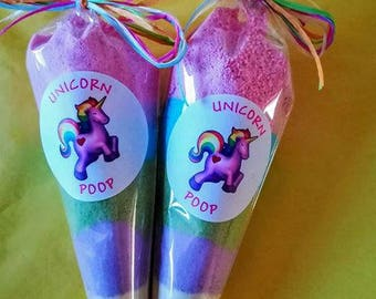 Unicorn poop bath bomb dust  Buy one get one FREE!!