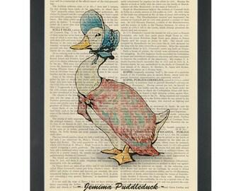 Beatrix Potter Jemima Puddle Duck Dictionary Art Print