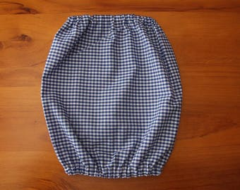 Blue Check Dog Snood - Large Dog Snood - Dog Snood - Ear Coverings - Dog Accessories