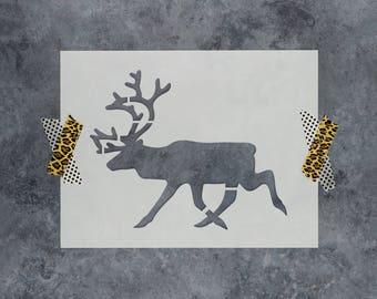 Reindeer Stencil - Reusable DIY Craft Stencils of a Reindeer