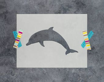 Dolphin Stencil - Reusable DIY Craft Stencils of a Dolphin Silhouette