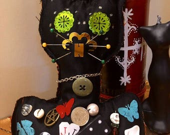 Black Cat JuJu / voodoo doll