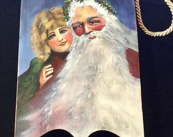 ANTIQUE SANTA SLED