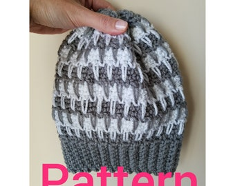 Icicles- Crochet Beanie PATTERN  Instant  PDF Download