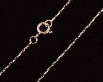 Rose Gold Spiral Vermeil Chain Necklace -Jewelry Supplies