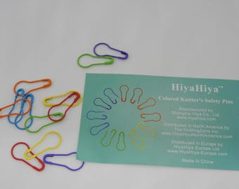 HiyaHiya Knitting Safety Pins Snag Free Pack of 12 Rainbow Colours