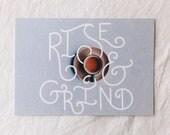 RISE & GRIND Postcard