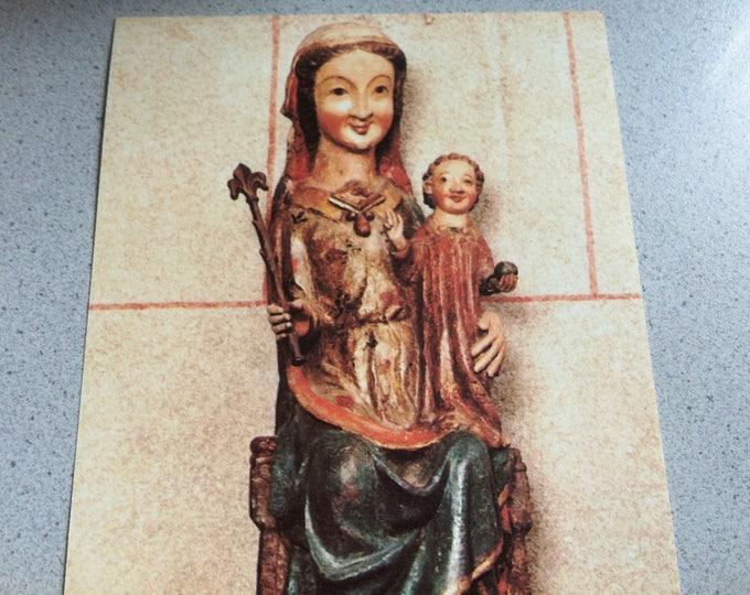 Vintage Religion Church Kath. Pfarrkirche St. Severus, Boppard Postcard Maria Photo