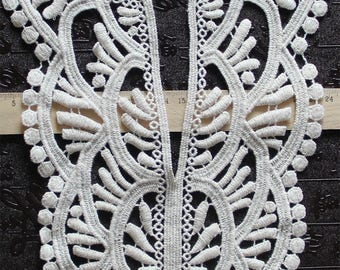 1 PC White Embroidery Hollow Flower Lace Applique DIY Collar   Appliques Patch   Clothing Accessories, WL582