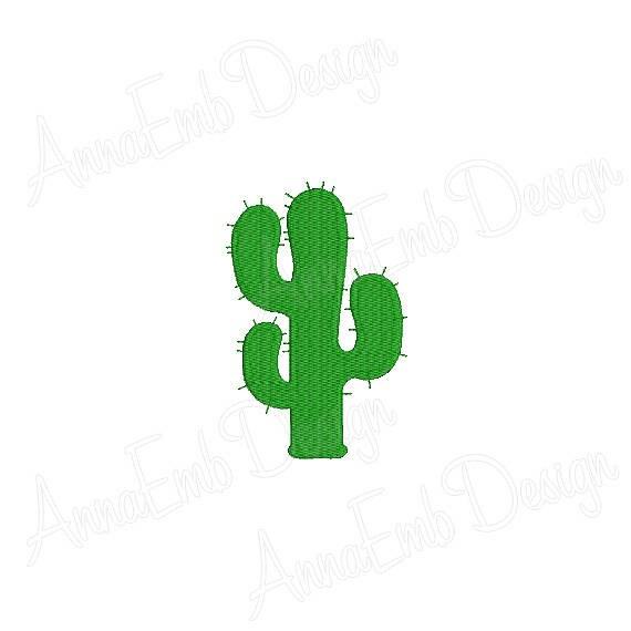 Cactus embroidery design silhouette