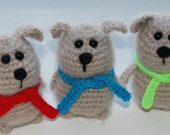 cream crochet dog/fluffy puppy/toy puppy/toy funny animal/beige dog