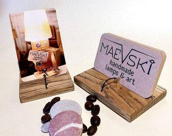 Wooden Vertical Business Card Holder for desk, Wooden Vertical Business card stand, Desk card holder vertical cards, Vertical Card display