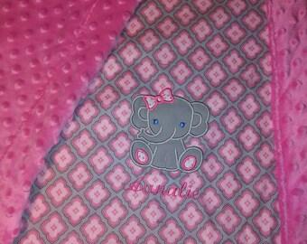 Bordered baby blanket