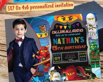 Ninjago Invitations, Ninjago Street Birthday Party Invitation, Ninjago Digital File, Ninjago Printable, Lego Ninjago