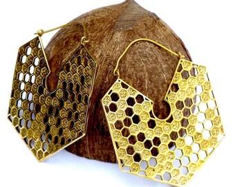 Brass earrings, boho earrings, ethnic earrings