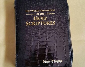 Black croc Bible cover FREE SHIPPING