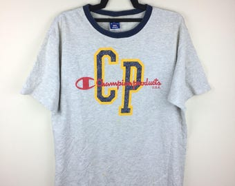 MEGA SALE !! Champion Products Spellout Logo Made in Usa Tee SSportwear Brand Large Size