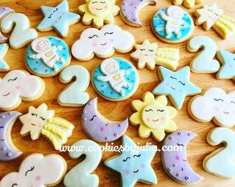 Space //rocketship cookies//sugar cookies //  //custom cookies//  birthday party//decorated cookies/custom//spaceship/astronaut/