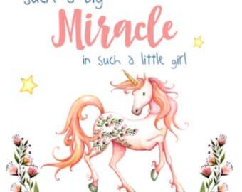 Miracle Baby Little Girl Unicorn Baby Blanket Toddler
