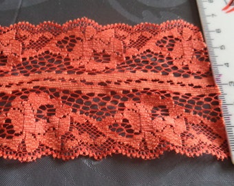 lace orange width 7 cm of superb quality new