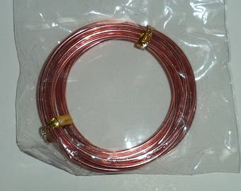 orange coloured aluminum wire diameter 2 mm new length 2 yards