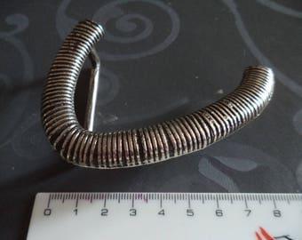 metal belt buckle silver very original width from 4 cm