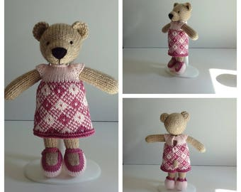 Knitted Girl Bear