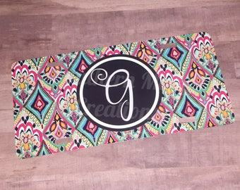 Monogrammed license plates, car tags, monogramed car tags, personalized car tag