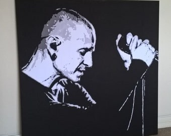 20x20 inch Chester Bennington Canvas Print