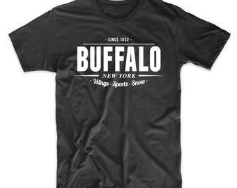 Buffalo New York Wings Sports Snow Since 1832 T-Shirt