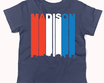 Madison wisconsin skyline lake monona terrace cityscape for T shirt printing madison wi