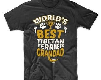 World's Best Tibetan Terrier Grandad Graphic T-Shirt