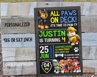 Paw Patrol Invitation, Paw Patrol Birthday, Paw Patrol Party, Paw Patrol Printable, Paw Patrol Birthday Invitation, Paw Patrol, Paw, Boy