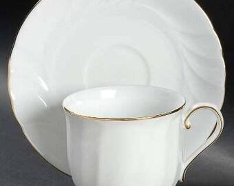 Set of 8 Mikasa Wedding Band Cups and Saucers