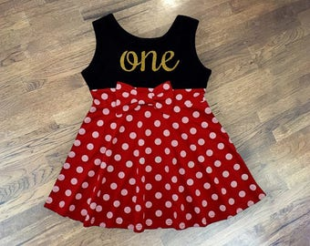 Minnie Mouse Birthday Dress