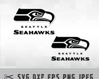 Seattle Seahawks SVG PNG DXF Logo Layered Vector Cut File Silhouette Cameo Cricut Design Template Stencil Vinyl Decal Heat Transfer Iron on