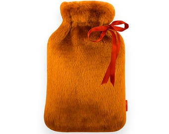 Hot Water Bottle Cover Autumn Red / 750 ml
