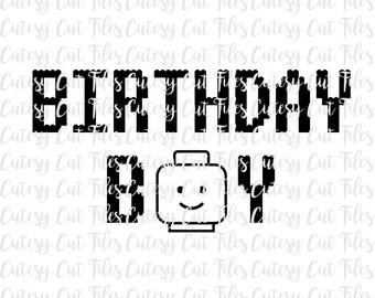 Lego birthday boy svg - Lego birthday decorations - Birthday boy - Birthday svg - Birthday boy cut files