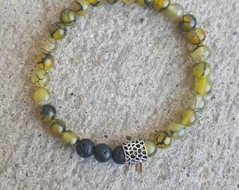 Essential oil diffuser bracelet. Aromatherapy jewelry. Handmade jewelry. Natural gemstone diffuser bracelet. Lava bead. Bohemian. Yogi. Gift